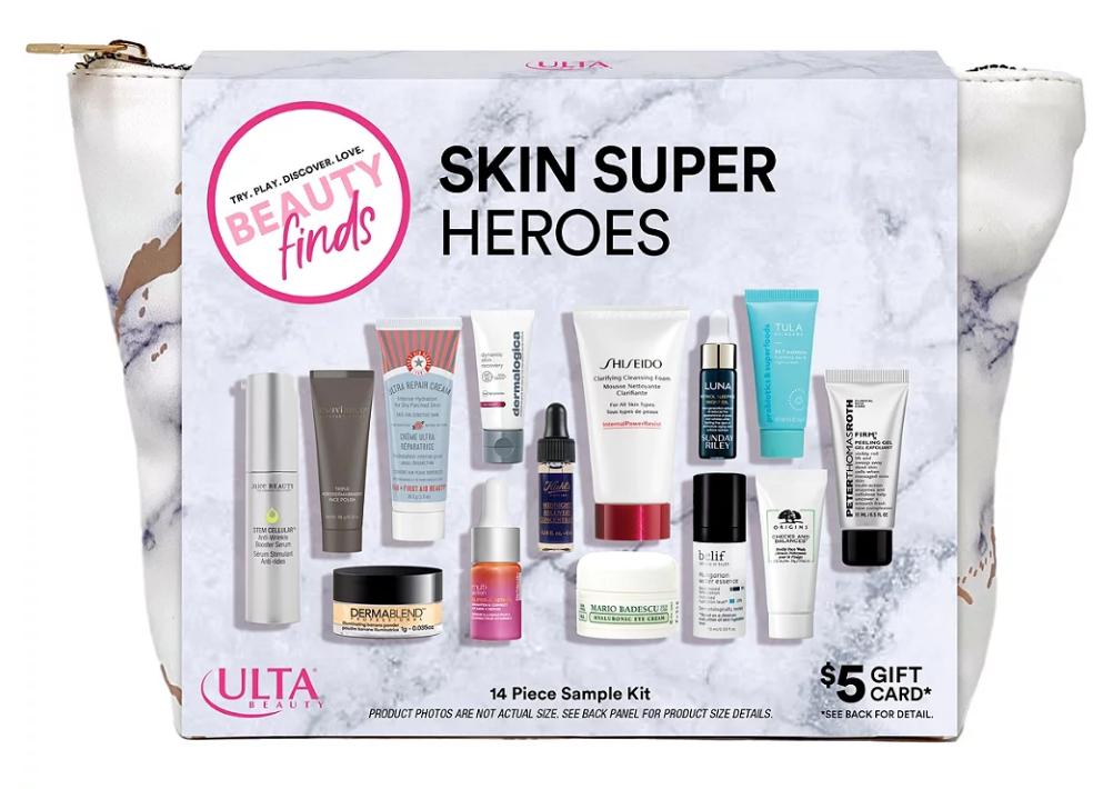12-22 Beauty Finds by ULTA Beauty Skin Super Heroes Sampler Kit Ulta Beauty icangwp