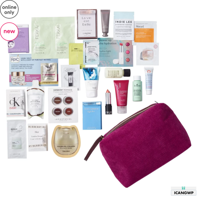 12-25 Variety Free 25 Piece Wine Beauty Bag with $70 purchase Ulta Beauty icangwp blog