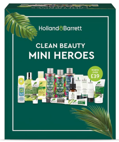 01-12 H B Clean Beauty Mini Heroes Box Holland Barrett icangwp