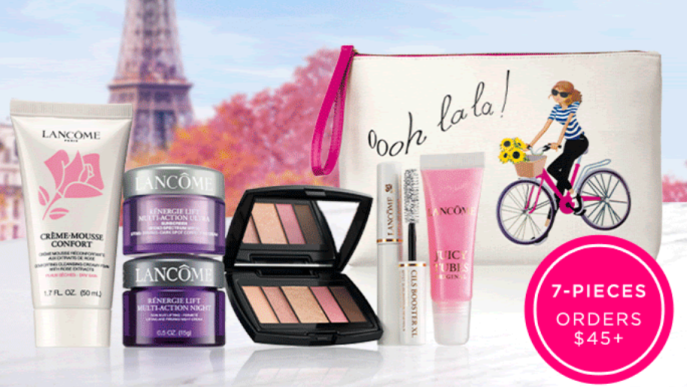 lancome gift with purchase 7pc with $45 icangwp beauty blog jan 2021