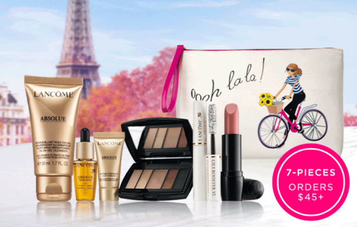 lancome gift with purchase 7pc with $45 icangwp blog jan 2021