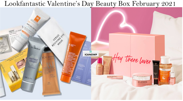lookfantastic valentines day beauty box 2021 full spoilers icangwp beauty blog 2