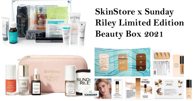 skinstore limited edition beauty box sunday riley 2021 icangwp