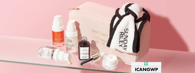 skinstore x sunday riley limited edition beauty box icangwp blog 2021