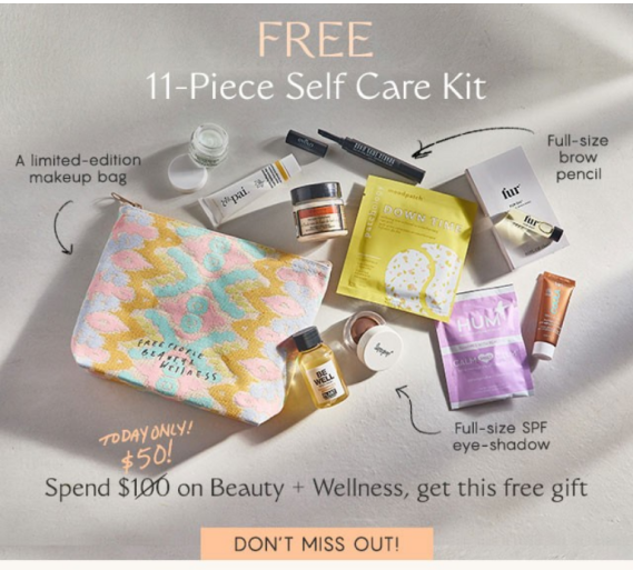 free people beauty gift with purchase icangwp