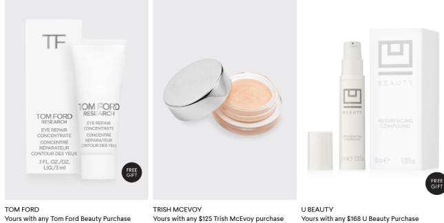 2021-03-01 Beauty Gifts with Purchase at Bergdorf Goodman icangwp beauty blog