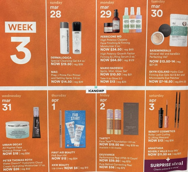 ulta 21 days of beauty event spring 2021 ad scan icangwp week 3