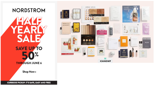 nordstrom half yearly sale 2021 free gift with purchase memorial day icangwp