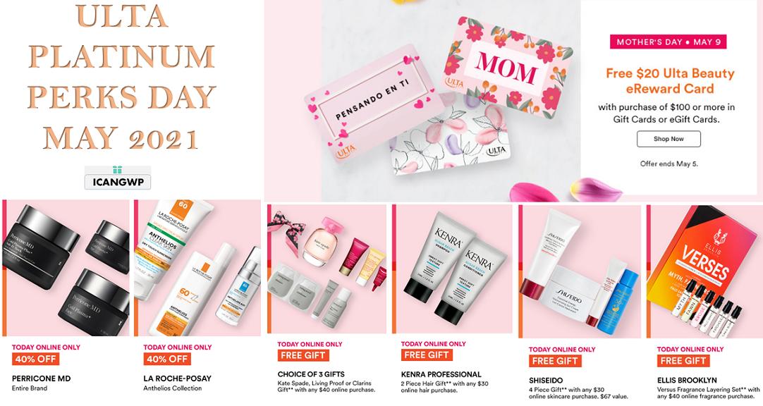 ulta platinum perks day may 2021 icangwp beauty blog