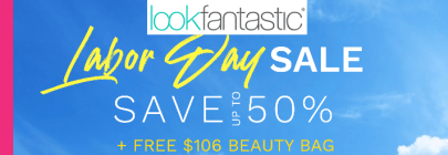 lookfantastic labor day sale banner icangwp 2