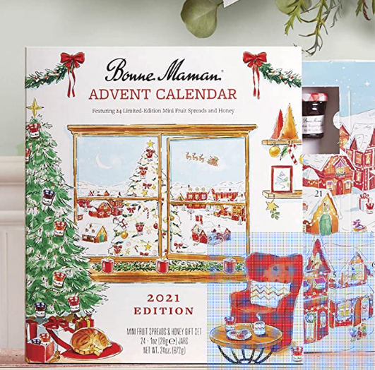 Screenshot 2021-08-12 at 13-20-00 Amazon com Bonne Maman 2021 Limited Edition Advent Calendar, with 24 mini fruit spreads a[...]