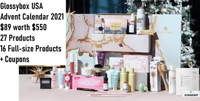 glossybox us advent calendar 2021 icangwp