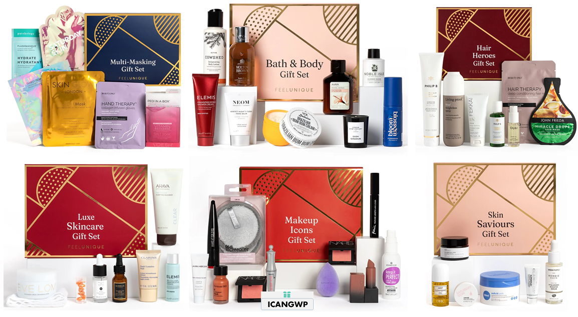 feelunique holiday beauty 2021 boxes icangwp