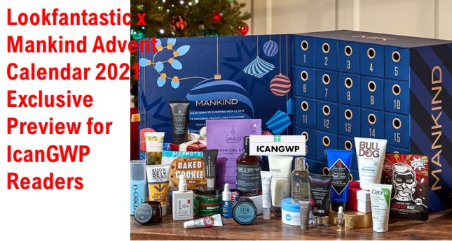 looktantastic x mankind advent calendar 2021 full spoiler exclusive at icangwp beauty blog 1